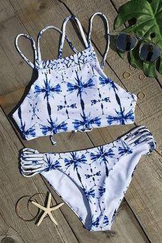 Cupshe Field Day Printing Bikini Set