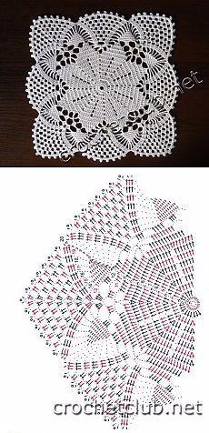 free crochet patterns, free crochet patterns, crochet tablecloth patterns, crocheted patterns with crocheted Filet Crochet, Crochet Blocks, Crochet Flower Patterns, Crochet Art, Crochet Squares, Crochet Home, Thread Crochet, Irish Crochet, Vintage Crochet