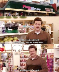Ron Swanson ~ Food and Stuff ~ Parks and Recreation