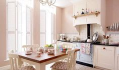 Light Pastel Pink Kitchen In A 16th Century English Townhouse Cabinets Aga