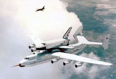 Soviet An-225/Buran chased by L-39