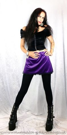 Steam and Lace Mini Skirt by Moonmaiden Gothic Clothing UK