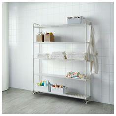 Ikea: Shelving unit MULIG White £49 120x34x162 cm Article no: 602.241.63