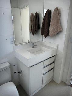 Banheiro suite master: Banheiros modernos por Gabriela Herde Arquitetura & Design