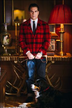 Fashion Editorial featuring Red Fleece by Brooks Brothers blazer. Playwright, Actor Model, Brooks Brothers, Dapper, Editorial Fashion, Mens Fashion, Actors, Stylish, Blazer