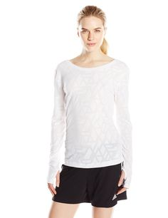adidas Performance Women's Yogi Long Sleeve Tee, White, Large. Made for comfort. Breathability. Made for athletes.