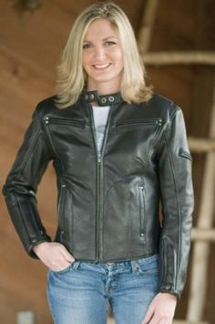 Women's Leather Motorcycle Jacket $239.00