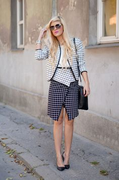 Black + White Checkers. #outfit