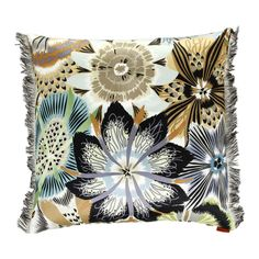 Add fabulous floral style to your living space with this Passiflora cushion by Missoni Home (please note pattern may vary slightly from image due to cut of fabric). Bold blooms are patterned across...