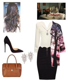 """A surprise romantic dinner after a long day at work"" by iconic-queen ❤ liked on Polyvore featuring Christian Louboutin, Mary Katrantzou and Accessorize"