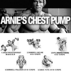 Arnies Chest Pump ! Healthy Fitness Workout Plan