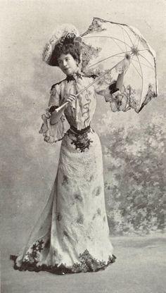 """1901 July, Les Modes Paris - Dress """"Primrose"""" by Walles"""