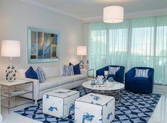 Coastal Living Room photo by Alena Capra Designs  A Crisp & Fresh Design I Luv Blue   ;-)