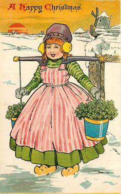 .Holland 1904 Kerst-postkaart..............lbxxx,.