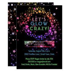 Glow birthday - Neon Glow in the Dark Party Kids Birthday Invitation Zazzle com – Glow birthday Glow Party, Glow In Dark Party, Black Light Party Ideas, Neon Licht, Birthday Invitations Kids, Neon Party Invitations, Invitation Cards, Birthday Ideas, Wedding Invitations
