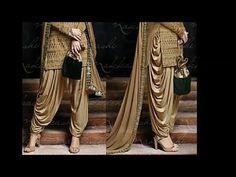dhoti salwar(cutting)in hinidi easy tips/धोती सलवार(cutting)हिंदी में बनाने के आसान तरीके Collar Kurti Design, Patiala Pants, Dress Patterns, Sewing Patterns, T Shirt Tutorial, Self Design, Saree Dress, Indian Designer Wear, Dress Making