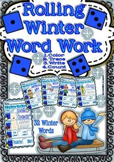 Rolling Winter Word Work for Kinders/3rd Grade