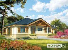 Grzegorz - projekt domu - Archipelag Blue Roof, Blue Bedroom, Architecture Design, Shed, Floor Plans, Outdoor Structures, Flooring, Mansions, Country