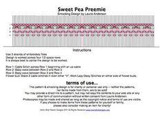 Sweet Pea Preemie Smocking Plate