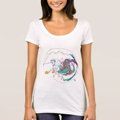 2017 Mink Mode Hippicorn Ladies Scoop Neck White T-Shirt - red gifts color style cyo diy personalize unique