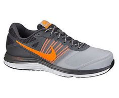 c09f9c4e52c7 Nike Dual Fusion X Grey Orange Black Blue Red Running Shoes Men Sz 10.5