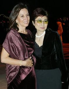 Olivia with Yoko at the premiere of the film, Concert For George
