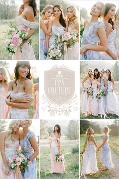 PPS Couture Plum Pretty Sugar bridesmaid dresses floral pattern