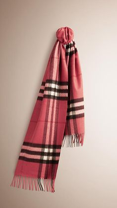 583cc0d4f Blush pink The Classic Cashmere Scarf in Check Burberry Scarf, Burberry  Women, Winter Accessories