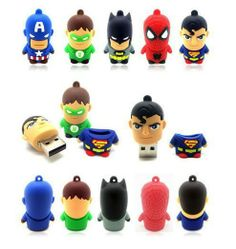 New 5styles Hot Handy Thumbs Super man Flash Pen Drive Data Storage  8GB Memory disk stick Free HK post US $58.00