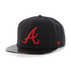 Atlanta Braves Script Side Two Tone Captain Gray 47 Brand Adjustable ... d4b51719f