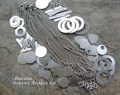 Aluminum STAMPING NECKLACE Kit Metal Stamping by SupplyYourSoul, $38.00