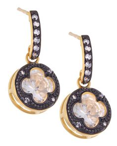 Framed Clover Drop Earrings by Belargo at Neiman Marcus Last Call.