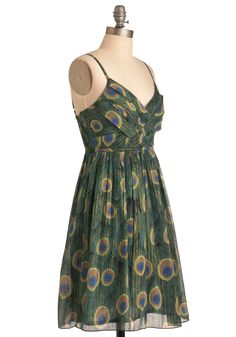 Sweet Peacock Dress. Oh, my darling! #green #modcloth