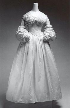 Cotton Dress ca.1840 - Metropolitan Museum of Art