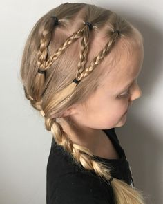 """76 Likes, 6 Comments - Allen Girls Hair (@allengirlshair) on Instagram: """"Another requested """"W"""" hairstyle. . . . #miniwaspette #dancecamp #danceclass #whair #frenchbraid…"""""""
