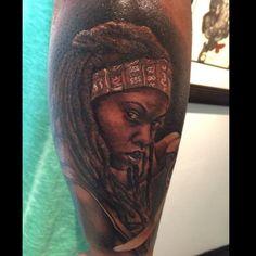 Michonne - Walking Dead tattoo by Tatu Baby