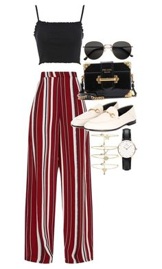 """Untitled #23113"" by florencia95 ❤ liked on Polyvore featuring Topshop, Prada, Gucci, H&M, Forever 21 and Daniel Wellington"