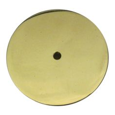 Round Backplate - Polish Brass: This back plate will add a nice touch to any knob, finial, handle, or lighting hardware piece.
