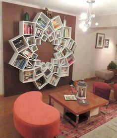 Lotus Bookshelf: Forget a TV or fire place, I want a Lotus Bookshelf!