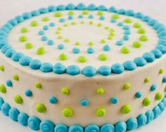 Easy Baby Shower Cake Decorations | Beki Cook's Cake Blog: Polka Dot Baby Shower Cake
