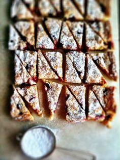 White Chocolate & Rosemary Cranberry Blondies