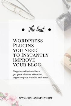 the 8 best WordPress plugins i use, that will save your blog and instantly improve your website traffic and engagement. To get email subscribers and more. How To Start A Blog Wordpress, Blog Topics, Wordpress Plugins, Make Money Blogging, Writing Tips, Improve Yourself, Spicy, Content Marketing, Digital Marketing