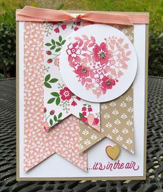 Krystal's Cards: Stampin' Up! Bloomin' Love It's In The Air #stampinup #krystals_cards #bloominlove #occasions16 #valentinescard
