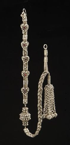 Piece of silver jewelry from Macedonia.  Part of a bridal costume.  Late-Ottoman era, circa 1900.    The design of this ornament is characteristic to some parts of the Balkans (Epirus, Macedonia, Bulgaria, Albania).