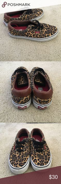 Leopard Vans size 7.5 women Only worn a couple of times, a little smudge in sides but will be clean upon arrival. Nice shoes just not my style Vans Shoes Sneakers