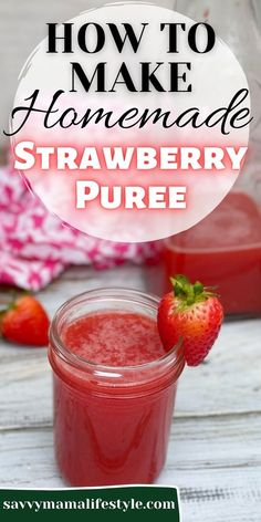 The easiest way to make a homemade strawberry puree from fresh (or frozen) strawberries! Use it for cocktails or any summer drink. #StrawberryPuree #StrawberryRecipe #Cocktail #RedCocktail #PinkCocktail #DrinkRecipe Pureed Food Recipes, Easy Recipes, Easy Meals, Strawberry Puree, Strawberry Recipes, Delicious Desserts, Dessert Recipes, Yummy Food, Cocktail Recipes
