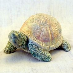 Ceramic Box Turtle On the Move by GrapeVineCeramicsGft on Etsy,