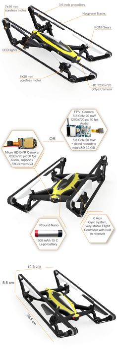 B-Unstoppable Worlds First Tank-Quadcopter Drone | Indiegogo
