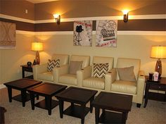 room colur and furniture for a small media room
