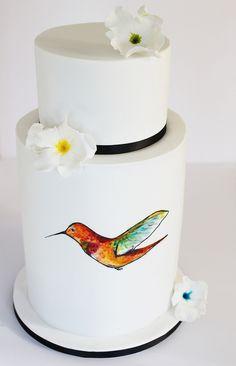 "ISLA PASTEL · Pastel de boda ""colibri"" · Wedding cake ""hummingbird"""